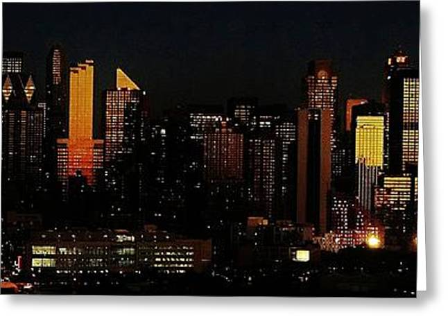 Greeting Card featuring the photograph Twilight Reflections On New York City by Lilliana Mendez