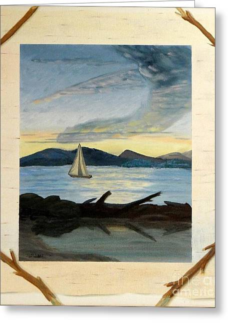 Twilight Sailing Greeting Card by Stephen Schaps