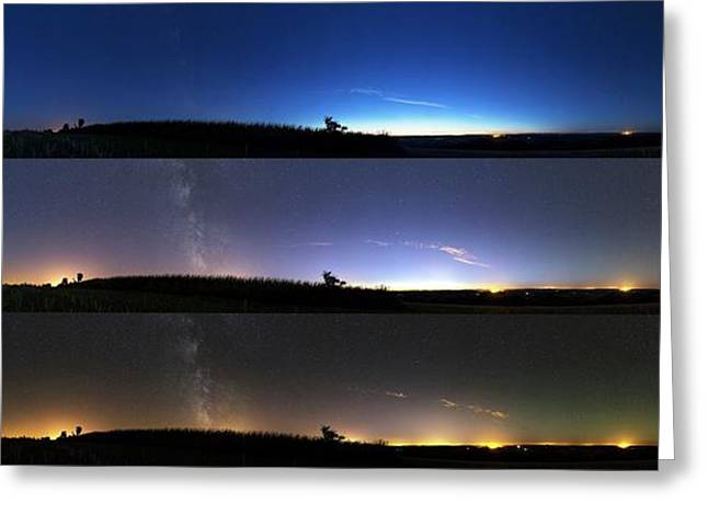 Twilight Sequence Greeting Card by Laurent Laveder