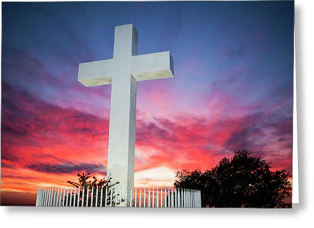 Twilight, Setting Sun, Sunset Clouds Greeting Card by Michael Qualls