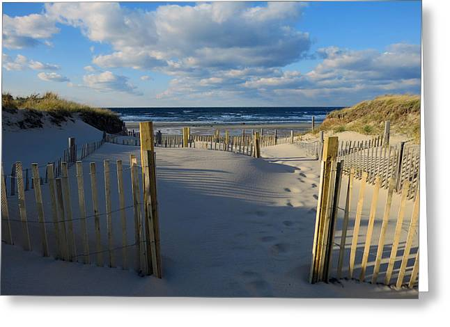 Greeting Card featuring the photograph Golden Hour Beach by Dianne Cowen