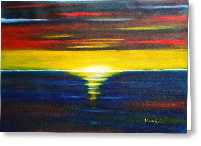 Twilight Sunset Greeting Card