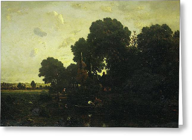 Twilight, Théodore Rousseau Greeting Card