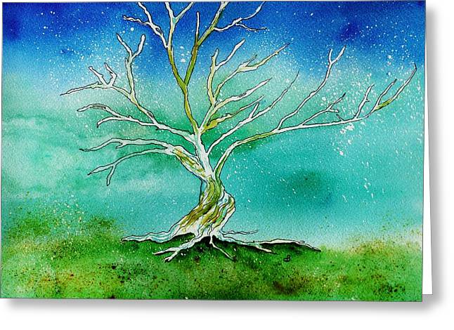 Twilight Tree Greeting Card