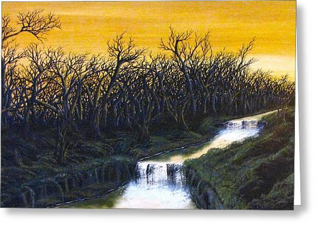 Twilight's Last Breath Greeting Card by Pheonix Creations