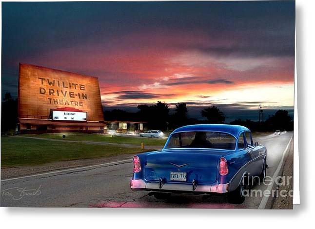 Twilite Drive In  Greeting Card by Tom Straub