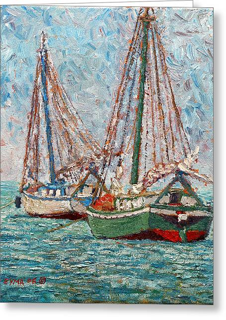 Twin Boats Greeting Card