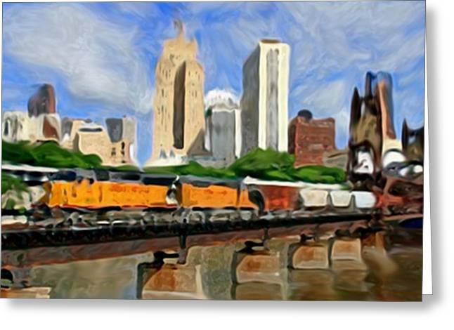 Twin Cities Train Greeting Card
