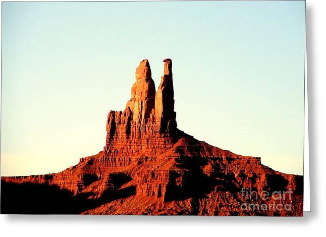 Twin Desert Peaks Usa Greeting Card by John Potts