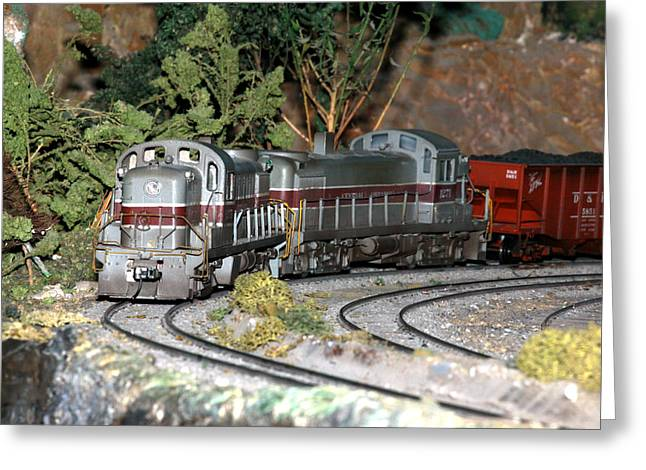 Twin Diesel Work Trains Greeting Card by Hugh McClean