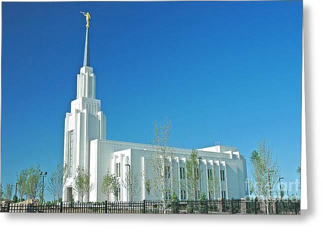 Twin Falls Idaho Lds Temple Greeting Card by Nick  Boren