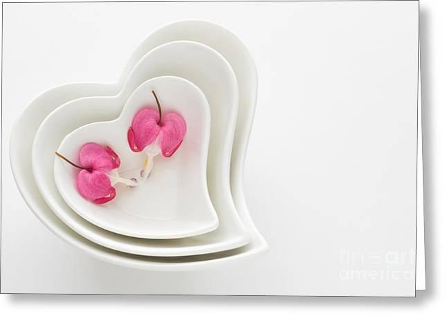 Twin Hearts Greeting Card