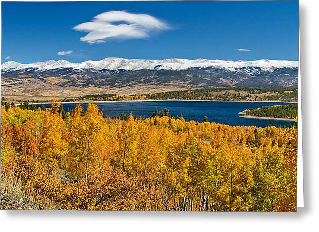Twin Lakes Colorado Autumn Snow Dusted Mountains Greeting Card by James BO  Insogna