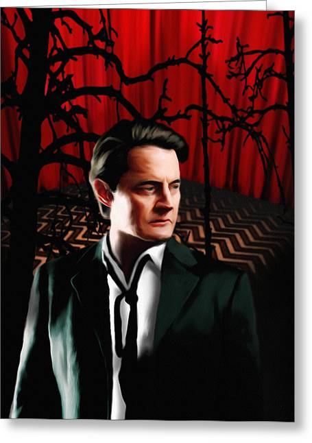 Twin Peaks  Dale Cooper Greeting Card