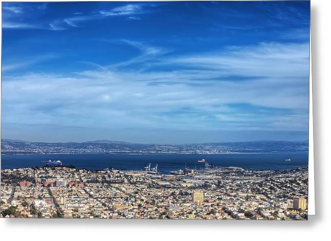 Twin Peaks View Of San Francisco 8  Greeting Card by Jennifer Rondinelli Reilly - Fine Art Photography