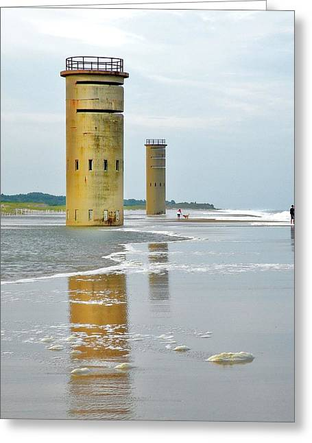 Twin Towers At Whiskey Beach Greeting Card