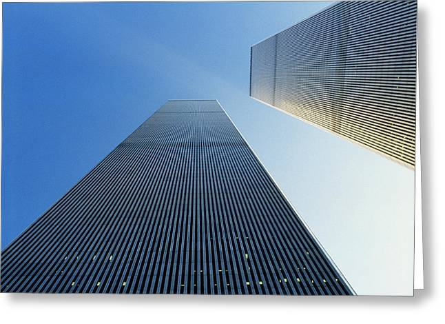 Twin Towers Greeting Card by Jon Neidert