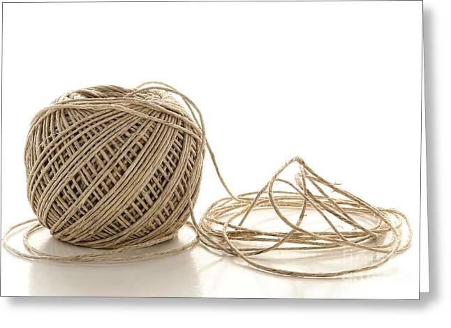 Twine Greeting Card by Olivier Le Queinec