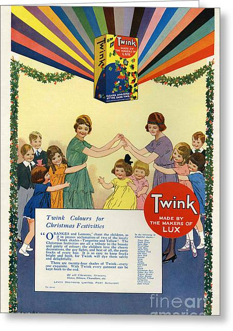 Twink 1923 1920s Uk Cc Lux Washing Greeting Card by The Advertising Archives