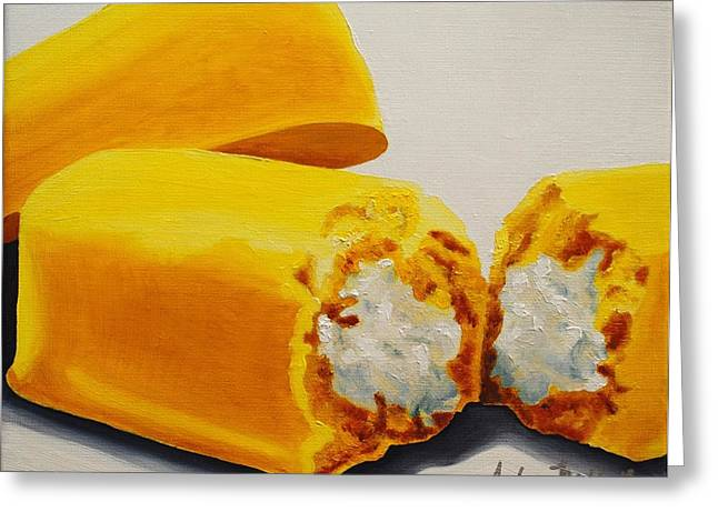 Twinkies Greeting Card by Andrea Nally