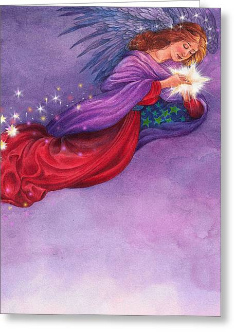 Twinkling Angel Greeting Card