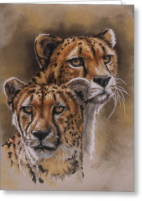 Twins Greeting Card by Barbara Keith