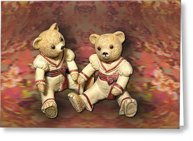 Twins Greeting Card by Linda Phelps
