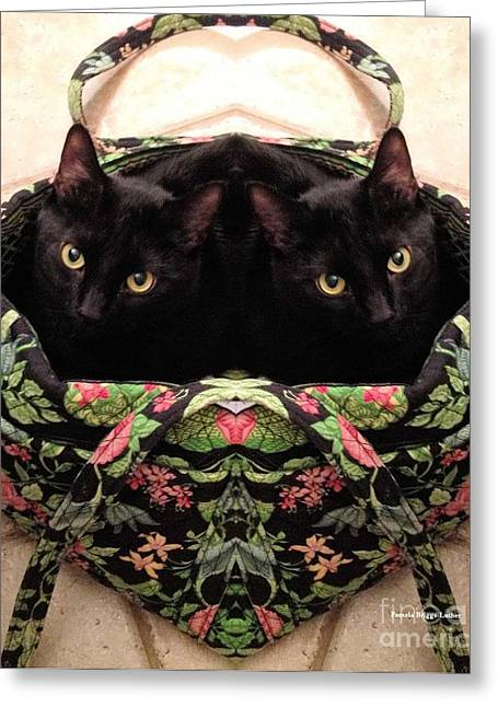 Greeting Card featuring the photograph Twins by Luther Fine Art