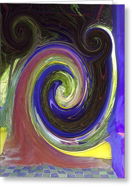 Twirl Greeting Card by Soumya Bouchachi