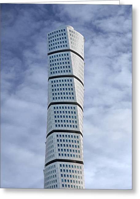 Twisted Architecture Greeting Card