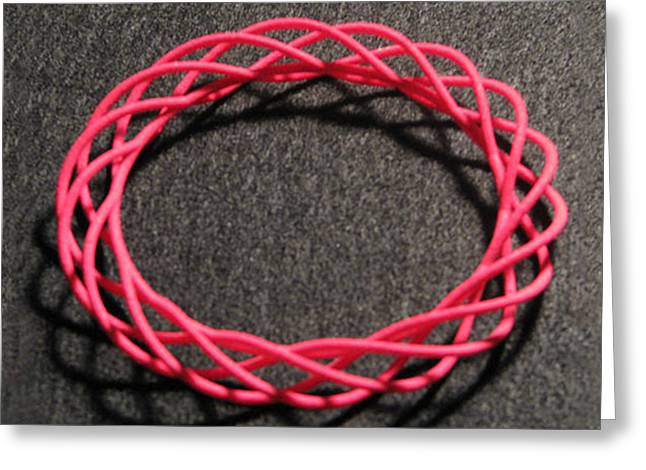 Twisted Bangle A01 Greeting Card by Robert Krawczyk