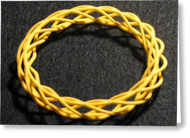 Twisted Bangle  A03 Greeting Card by Robert Krawczyk