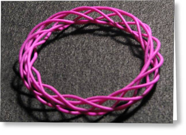 Twisted Bangle A04 Greeting Card by Robert Krawczyk