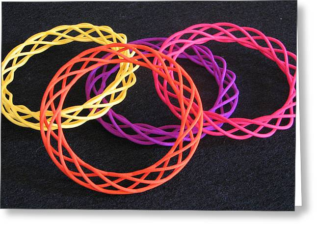 Twisted Bangles A0104 Greeting Card by Robert Krawczyk