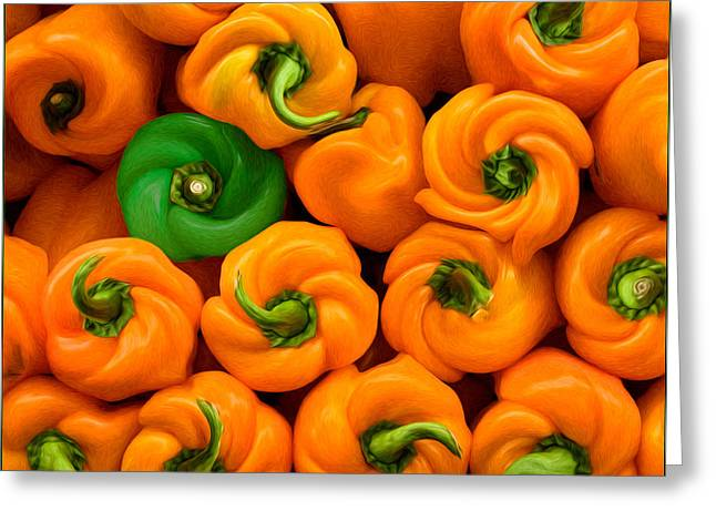 Twisted Peppers Greeting Card