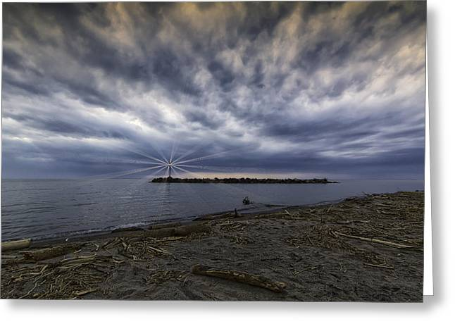 Twisted Sky Greeting Card by Kris Rowlands