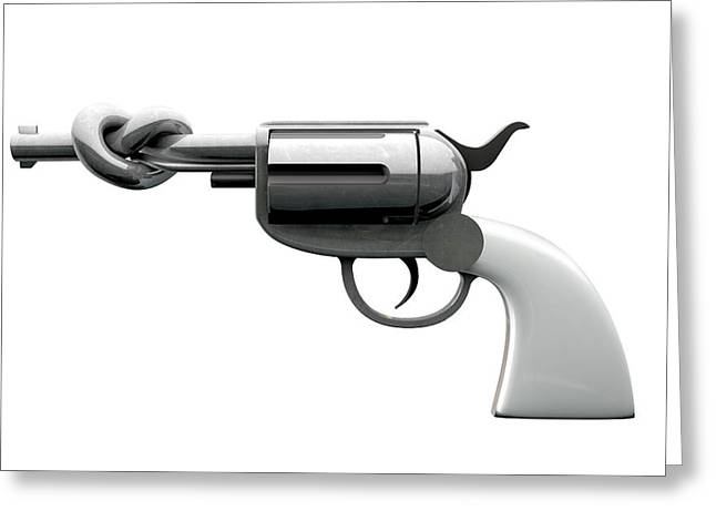 Twisted Violence Greeting Card by Allan Swart