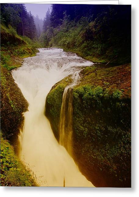 Twister Falls Greeting Card by Jeff Swan