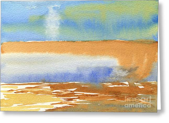 Twister In The Horizon Greeting Card by Beverly Claire Kaiya