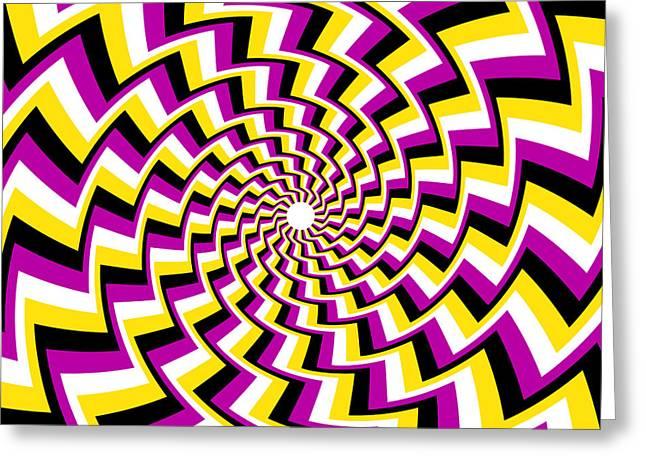Twisting Spiral Greeting Card