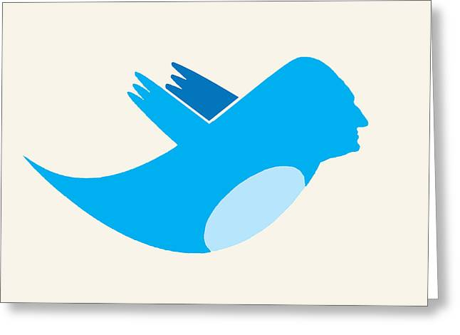 Twitter George Washington Greeting Card