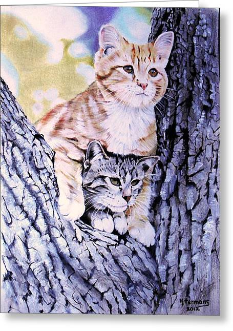 Two Amigos Greeting Card by Hendrik Hermans