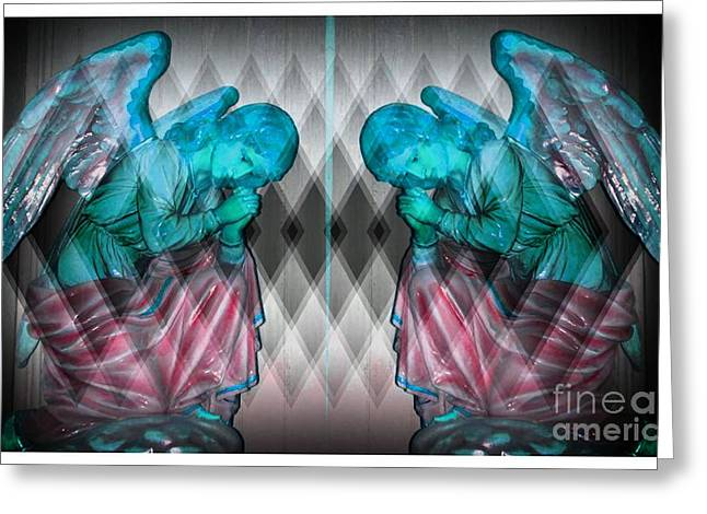 Two Angels Greeting Card by Kathleen Struckle