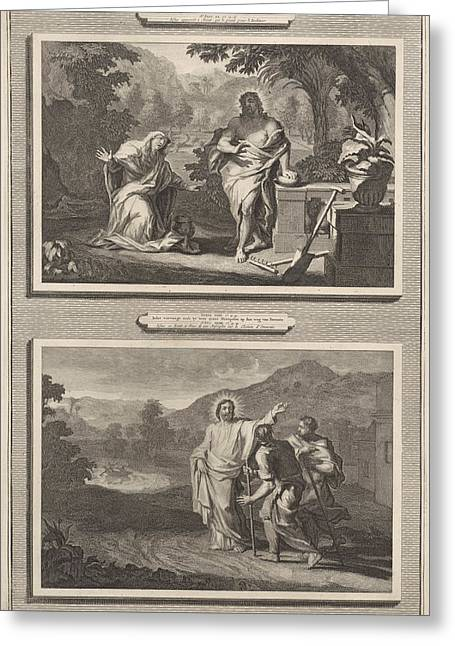 Two Appearances Of Christ After The Resurrection Greeting Card