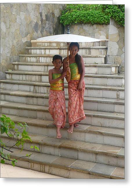two Bali Beauties  Greeting Card by Jack Adams