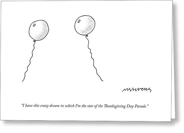 Two Balloons Speak To One Another Greeting Card