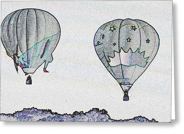 Two Balloons  Greeting Card