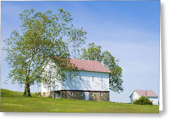 Two Barns Greeting Card
