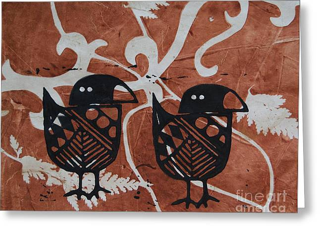 Greeting Card featuring the photograph Two Beaks by Cynthia Lagoudakis