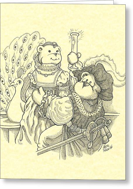 Two Bears Greeting Card by Jack Puglisi